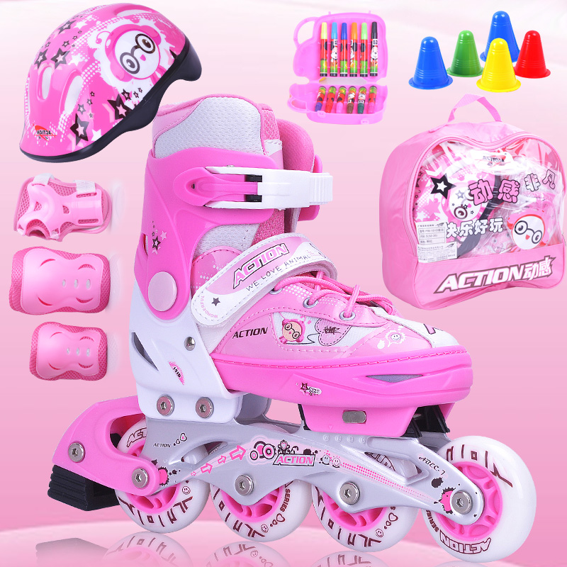 Action Professional PU Wheel Adjustable Unisex Inline Skates