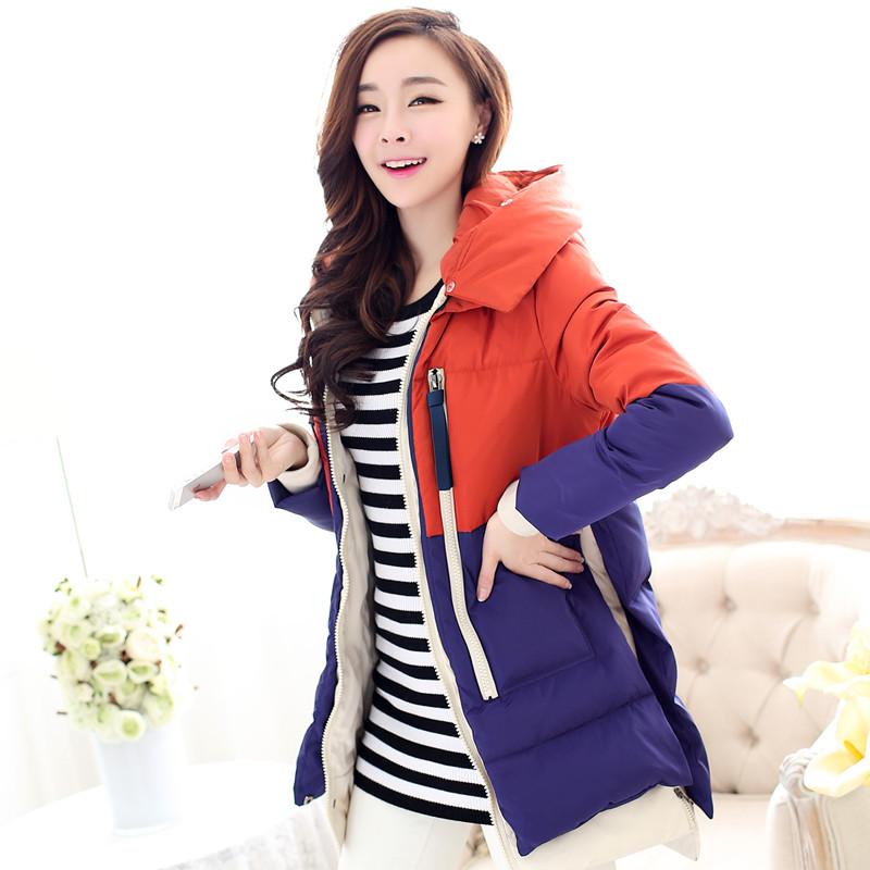 Женский пуховик 2014 зимой новой корейской версии тонкой длинной шерсти воротник вниз куртка женщин долго вниз пальто куртки дополняются в тонкий всплеск Нейлон