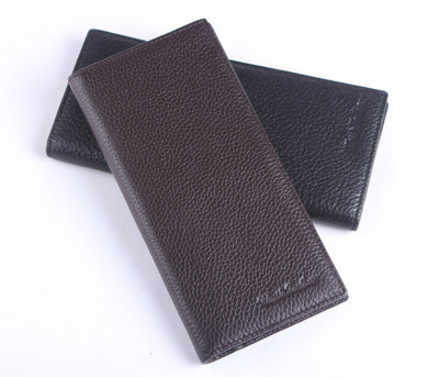 Men genuine leather wallet long section of the first layer of leather wallet vertical cross-section tide Korean version wallet