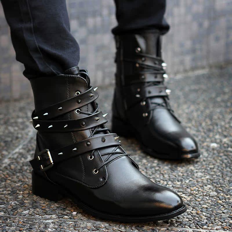 尖头皮鞋男韩版时尚