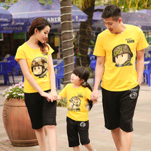 Family fitted San Yat kiss sub-loaded home improvement summer 2013 T-shirts, short-sleeved parent-child of a family of three