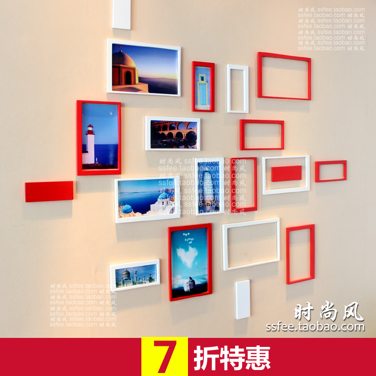 限时特价 创意墙贴 长方形立体墙贴 客厅电视背景墙装饰贴照片墙