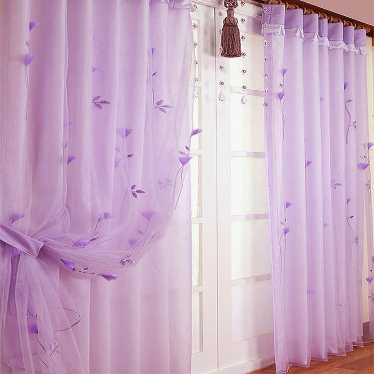 Шторы тканевые Размерные аппликация ремесло корейский стиль спальни гостиной Балкон, эркер занавес окна экрана элитного вышивка пряжи на продажу