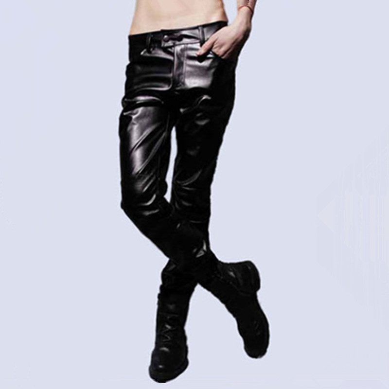Promise on the dir for post 2013 autumn wild fashion tights for men casual pants Korean leather pants
