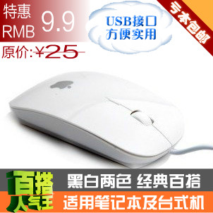 Mail classic slimline laptop desktop computer mouse USB optical mouse wired mouse
