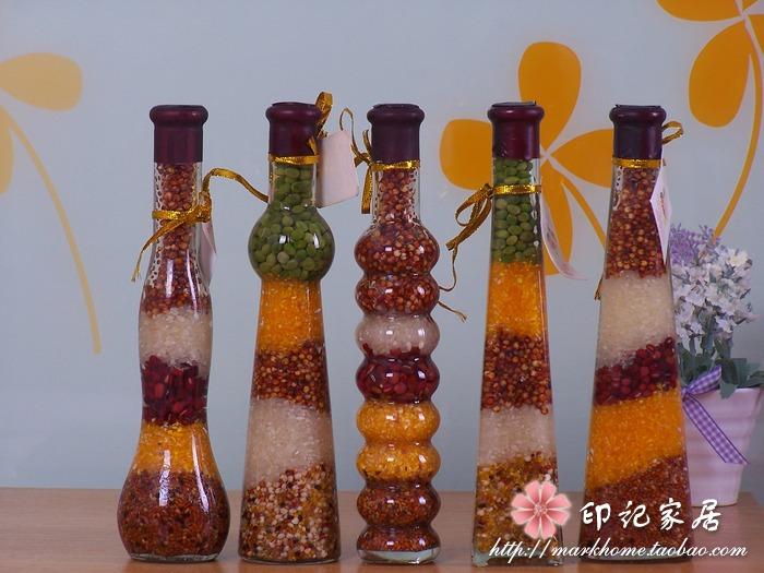 五谷丰登玻璃瓶油瓶装饰品招财摆件新婚礼品创意家居新房田园摆设