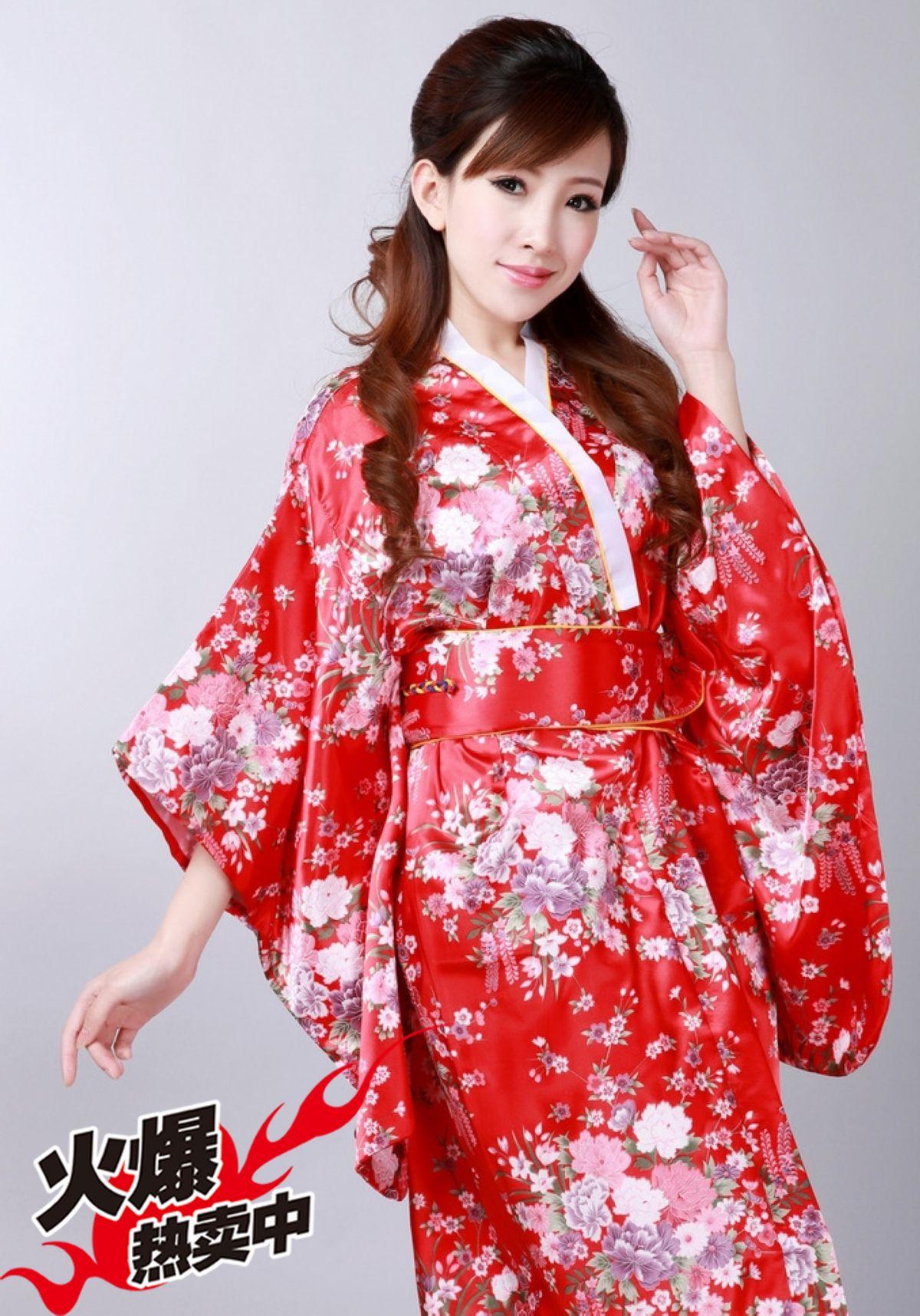 Национальный  костюм 日本和服 女款 浴衣 樱花正装 夜店服饰 影楼演出服套装