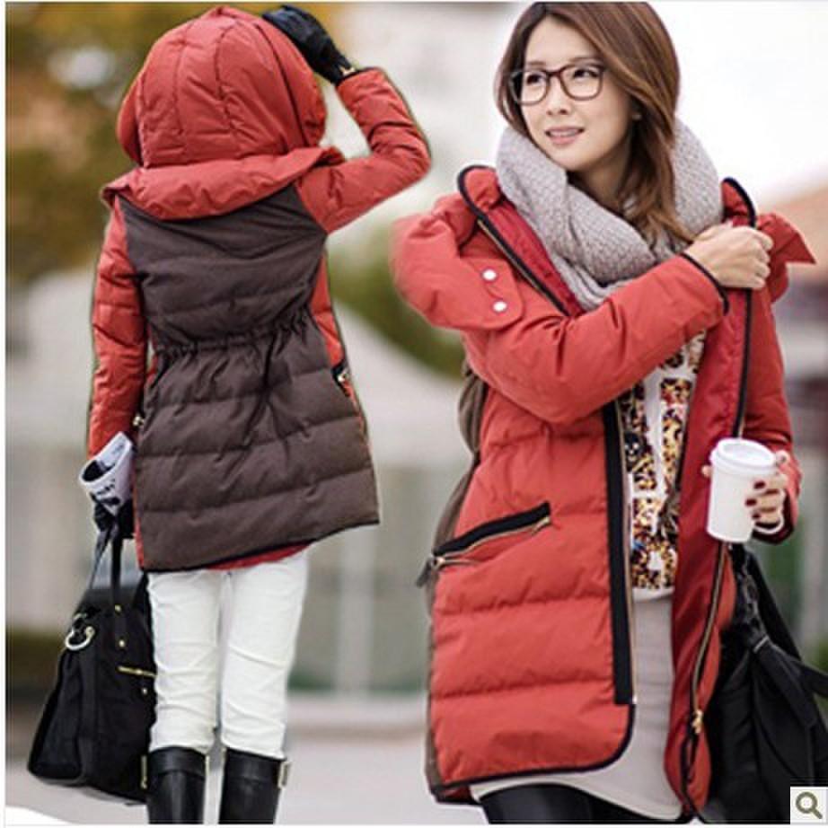 Женский пуховик Hanshebali зима 2013 новые тонкие талии тонкий дамы Корейский дамы длинные куртки пальто