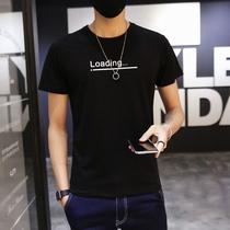 男士短袖t恤 青年韩版修身圆领纯棉夏季体恤青少年半袖T恤上衣潮