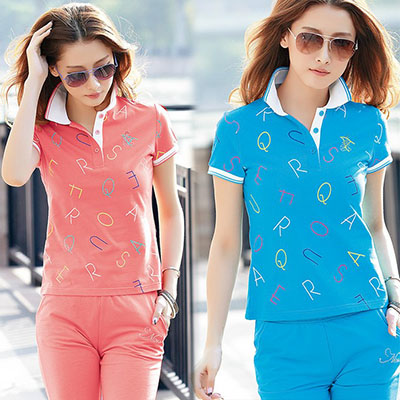 Cardin MELS summer cotton T-shirt collar middle-aged female polo shirt sleeved sportswear suit leisure half sleeve