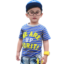 The gifted musicians cool Korean children 2013 Summer Boys T-shirt striped shirt the children wild short-sleeved T-shirts 10453