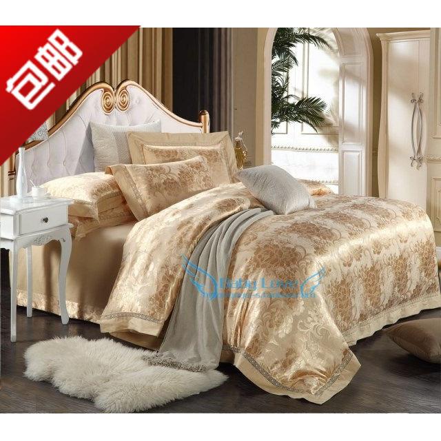 床上用品婚庆结婚季家纺四件套全棉丝加棉 镂空提花四件套 特价包邮