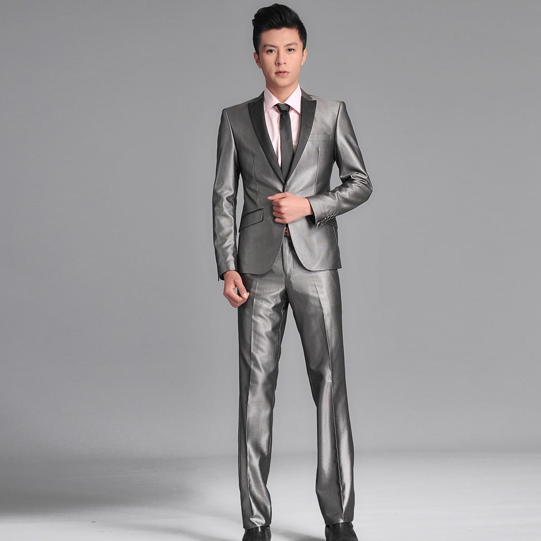 男士西装套装 高档西服 一粒扣正装职业装男款西服礼服西服套装