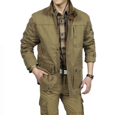 AFS JEEP counter genuine jacket Autumn 2014 military money in the long version of the popular Battlefield Jeep men's jackets