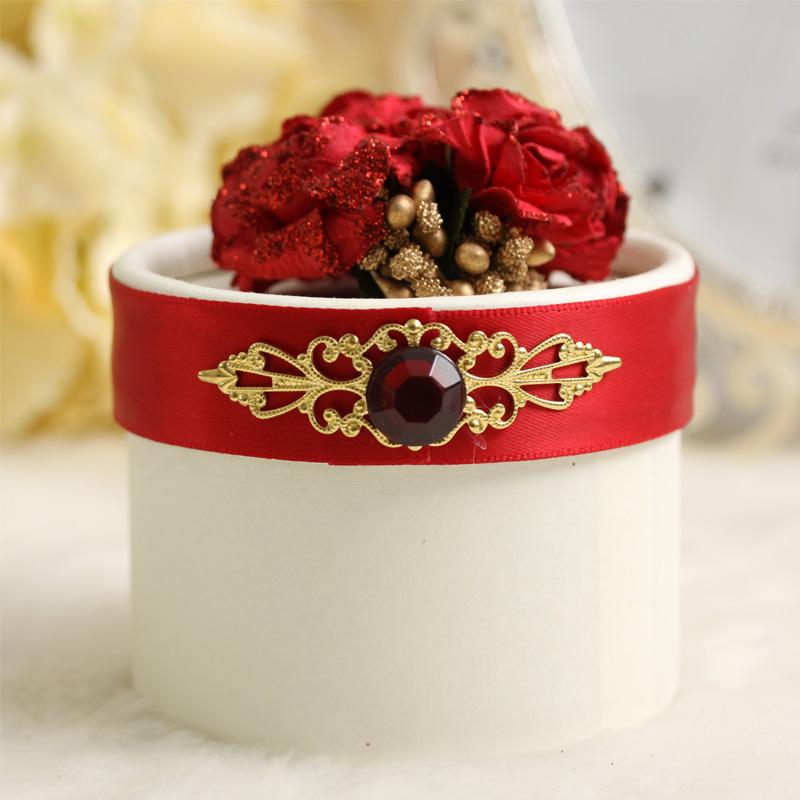 甜蜜百年 经典欧式 丹凤朝阳 圆筒水晶 结婚喜糖包装盒 喜糖盒子