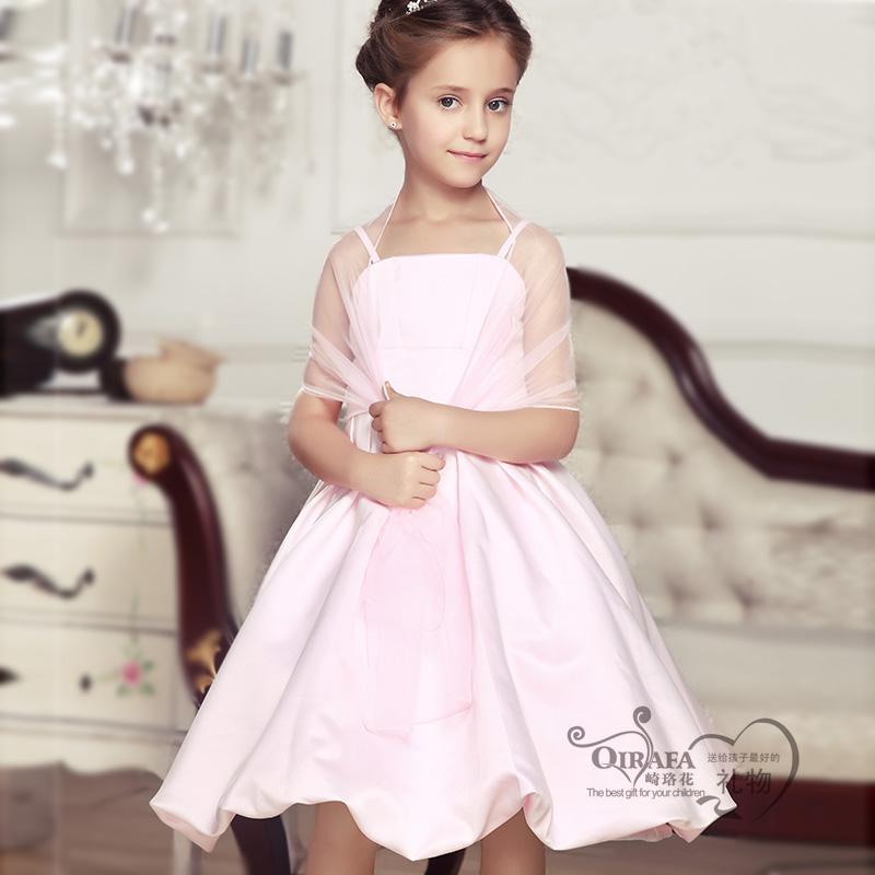 崎珞花童装 2013女童夏装新款 女童礼服公主裙 儿童演出吊带裙