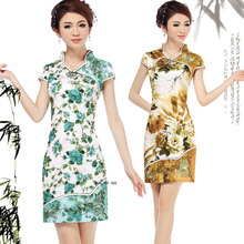 Lan smoke improved cheongsam dress summer fashion 2013 new cheongsam the retro ladies short paragraph cheongsam dress