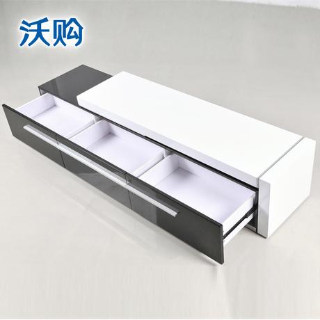 沃购 电视柜 时尚 简约 电视柜特价 带抽屉 组合黑白电视柜DG018商品大图