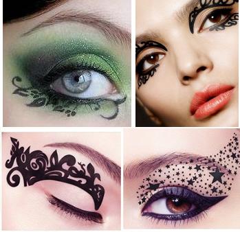 英国eye rock 眼影贴 日本热卖黑色彩妆创意霸气艺术猫眼眼线贴纸图片