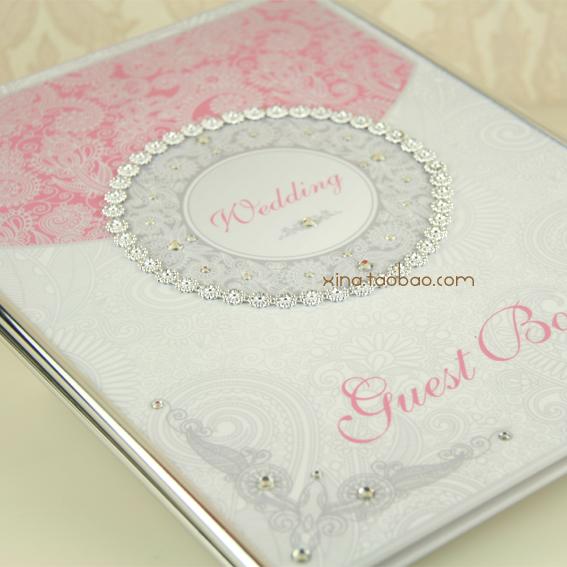 粉色签到本 Venus系列[全网独家]签到册 结婚签名册 喜纳优品