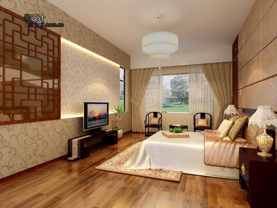 中式卧室效果图设计 制作  装修设计服务 家居设计 中式风格