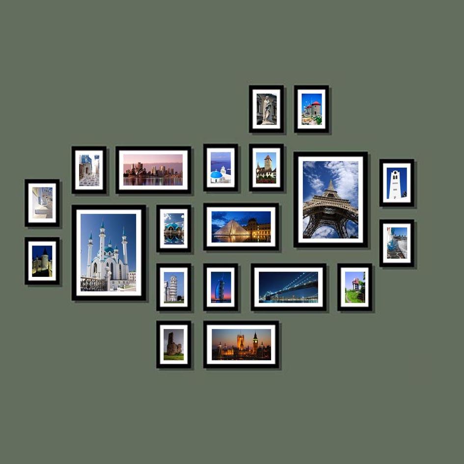 特价20框加厚照片墙相片墙实木相框墙相框组合黑色框创意批发壁挂