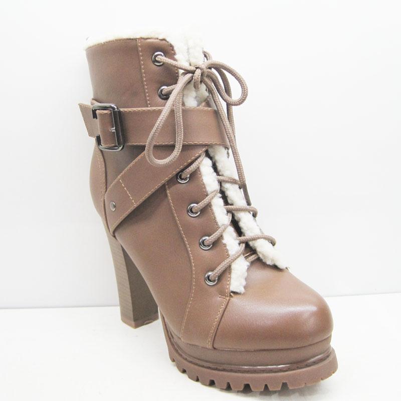 乔名女靴子/短筒靴/雪地靴粗跟超高跟/防滑防水台2013新款112