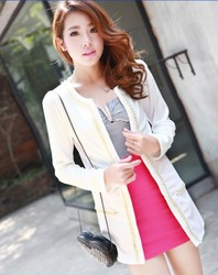 Leisure suit jacket slim O Neck