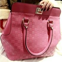 韩版菱格纹斜挎手提包