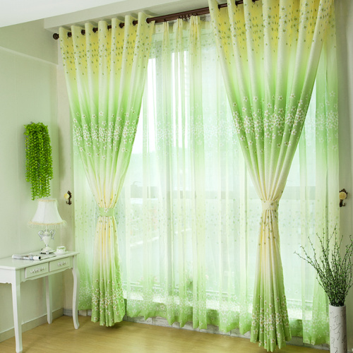 Brandot garden style living room bedroom high-grade semi shade finished curtain screens / fabric brigor