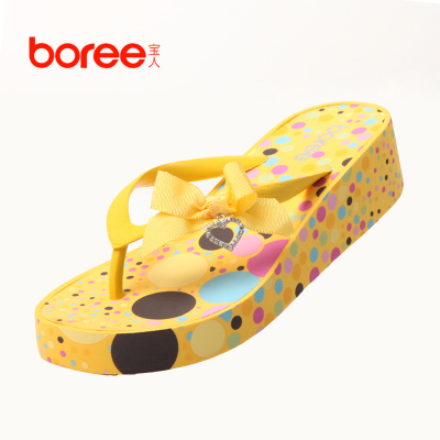 Genuine Boree / treasure bow slope with sandals women slippers shoes fashionable shoes