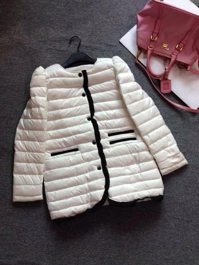 Женский пуховик Длинные рукава воротником вниз куртка пуховик