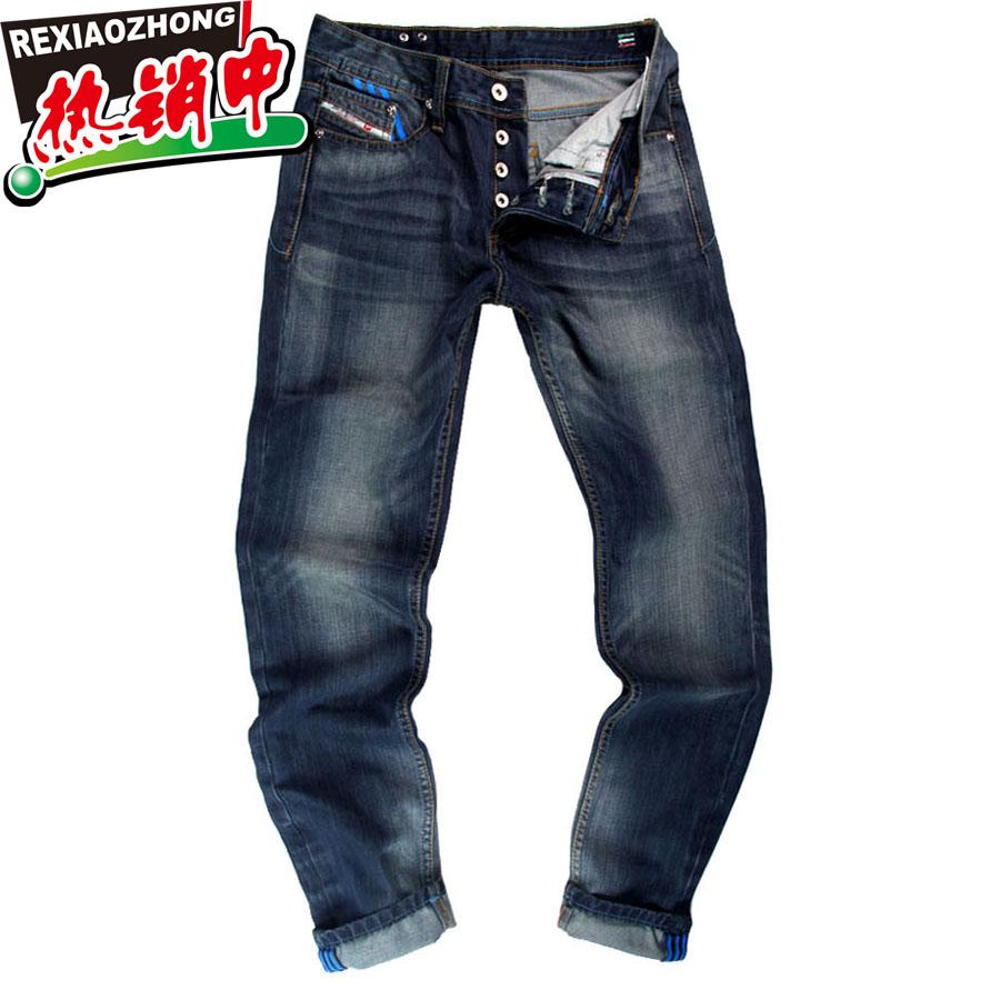 2013新潮裤迪赛三叶草牛仔裤男款水洗牛仔裤阿迪达斯男装大码
