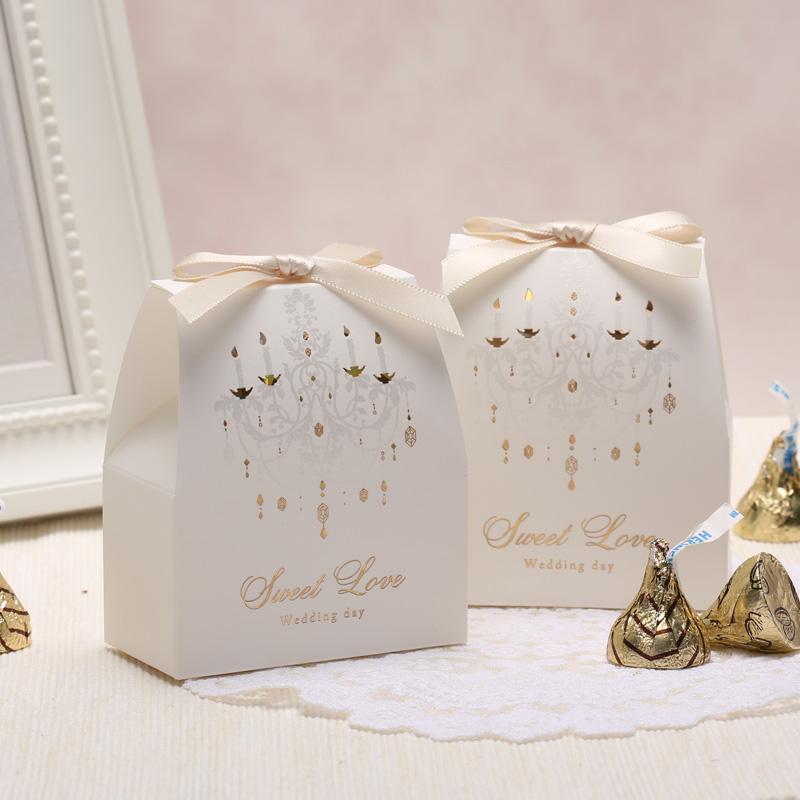 白色欧式结婚创意喜糖盒子