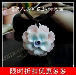 唐人街中国风民族特色原创景德镇瓷器女款毛衣项链送朋友同学礼物