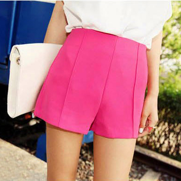2013 summer new Korean women plus size tall waist shorts, Candy-colored summer casual skirts hakama 087