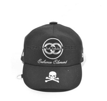 MMJ Casual Skull Pattern Stylish Metal Decor Sports Unisex Hat