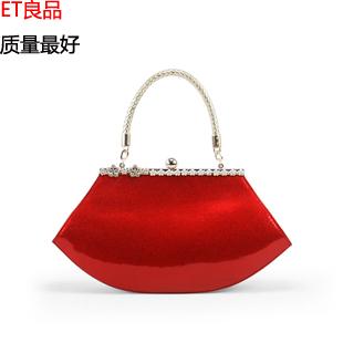 伴娘包2013新款潮女包韩版漆皮手提包单肩包新娘包红色结婚包包邮
