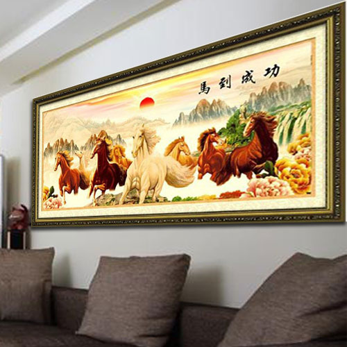 Pat Chun accurate printed cross stitch stitch gain 2 meter wire sharp new style living room 3D package mail