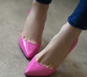 туфли Корея Покупка фирменных обувь кожа света ню цвета яркие конфеты цветные твердые острые шпильки пятки женщин сумка почта Тонкий каблук Мягкая кожа Искусственная кожа