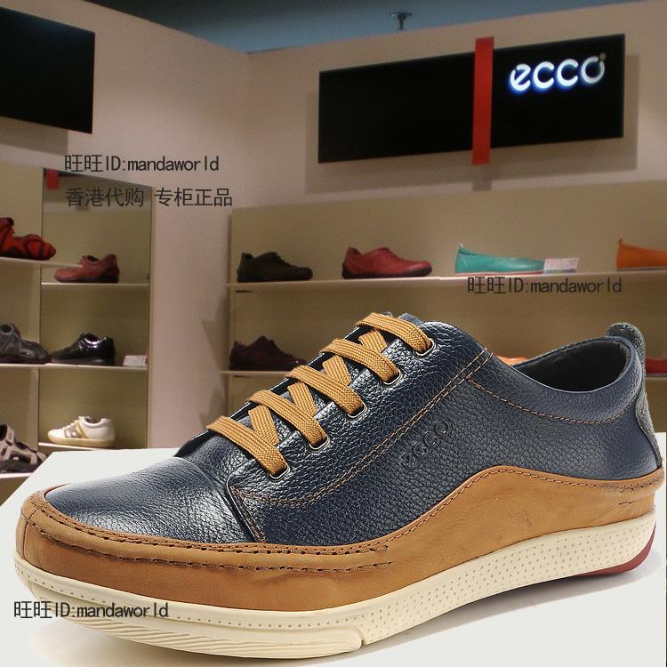 Демисезонные ботинки ECCO 302 2013 Обувь на тонкой подошве ( для скейтборда ) Для отдыха Верхний слой из натуральной кожи Круглый носок Шнурок Весна и осень