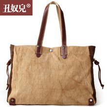 Ugly slave, European and American fashion laptop bag new linen men briefcase one shoulder bag youth leisure female bag