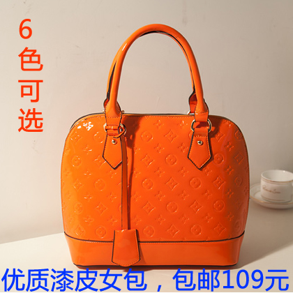 女包包韩版时尚漆皮贝壳包 通勤单肩包斜跨包 特价促销新娘包5905