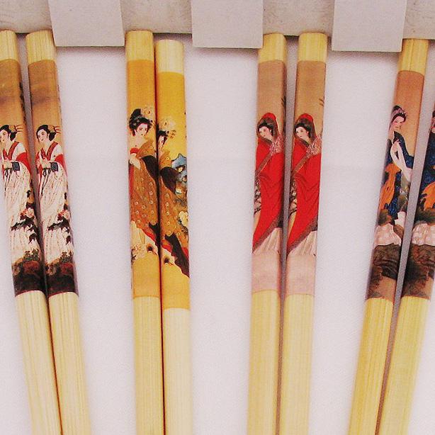 竹木特色烤花工艺筷子套装方便便携厨房用品环保健康创意结婚礼品
