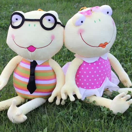 新品情侣青蛙王子公仔白领青蛙公仔娃娃毛绒玩具抱枕可爱