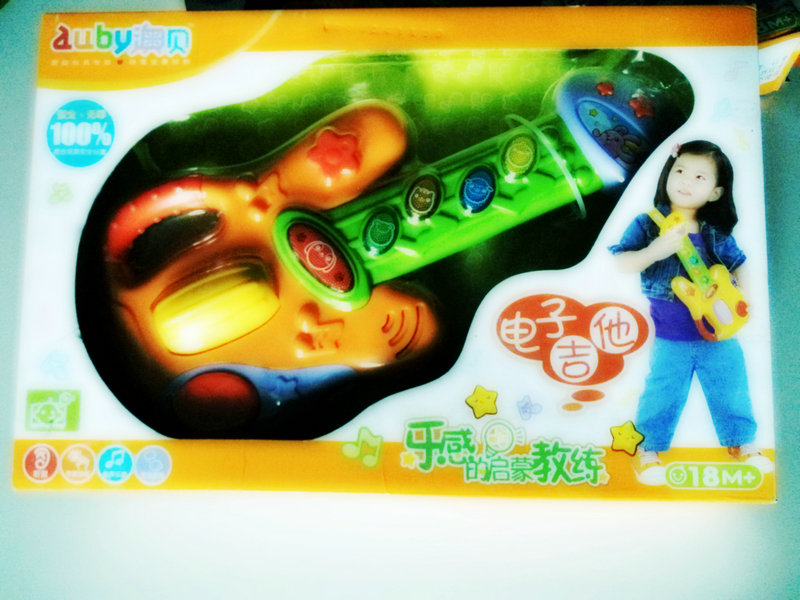Детская гитара Игрушка гитара аутентичные aubay Скидки Распродажа детей игрушки электрогитара отпуск пакет почта, один потерял три