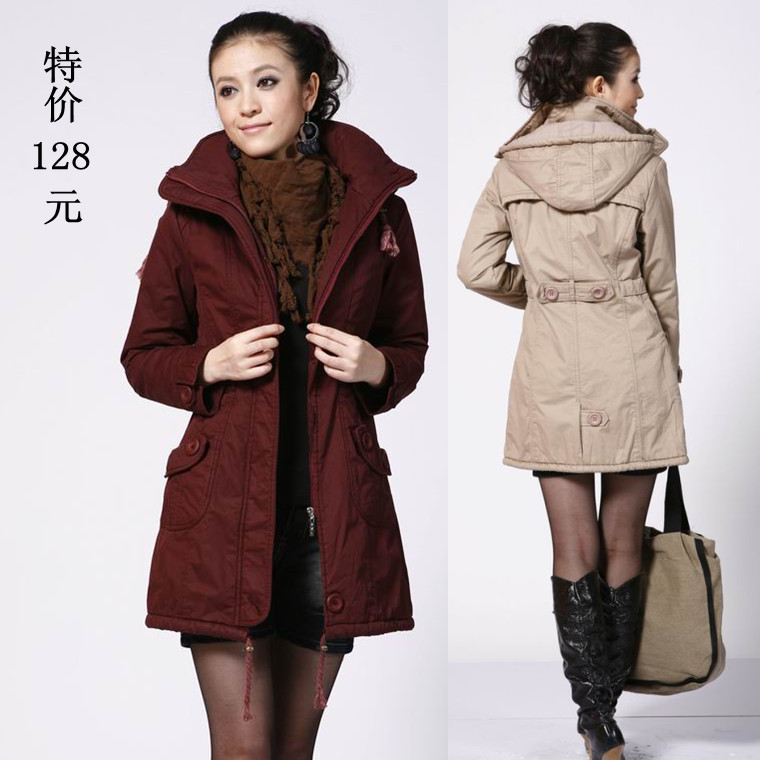 Clearance special 2012 Korean clothes for plus size coat new style coat long coat winter coat