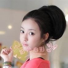 Package mail female horse-hair wig short ponytail Curly tail short hair girl Pear flower mawei Pull the cable fake ponytail