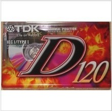 TDK D120 high quality tape cassette tape 120 minutes Blank tapes
