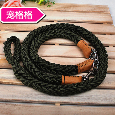 Free shipping large nylon dog leash chain stereotyped Satsuma large golden dog rope hand-woven